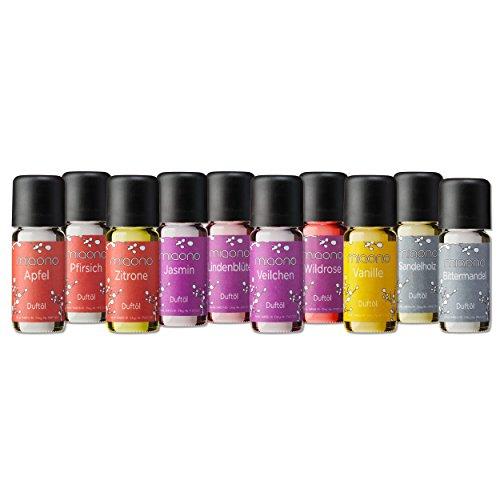 Duftöl Set - Wunderbare Welt der Düfte No. 2-10x feiner Raumduft - Aromaöl für Duftlampe und Diffuser von miaono