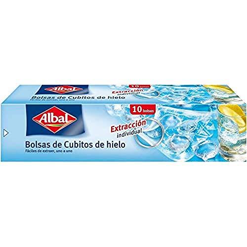 Albal Bolsas para cubitos de hielo, cierre automático, 20 cubitos/bolsa, 10 bolsas