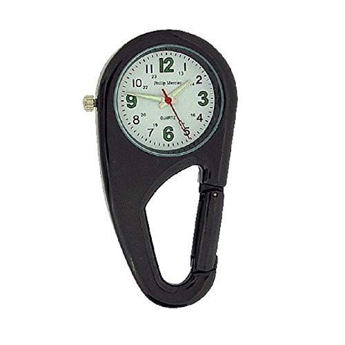 Philip Mercier NW09B Unisex Taschenuhr in Form eines Karabinerhakens für Ärzte und Krankenschwestern