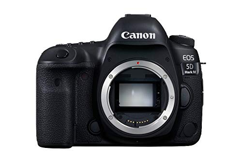 Canon EOS 5D Mark IV SLR-Digitalkamera (30,4 MP, 8,1 cm (3 Zoll) Touchscreen-LCD, DIGIC 6+, Dual Pixel RAW, 4K Video, WLAN, NFC, GPS) Gehäuse schwarz