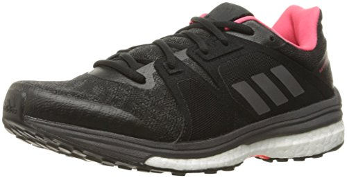 adidas Women's Supernova Sequence 9 W Running Shoe, Black/Night Metallic F13/Utility Black F16, 5 M US