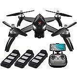 ElementDigital MJX Bugs 5W GPS Drone App Operation iOS Android 1080P 5G WiFi Camera Record Video 1-Key RTH Altitude Hold Track Flight Headless Brushless Motor, 3 Battery, Adjustable Camera Angle