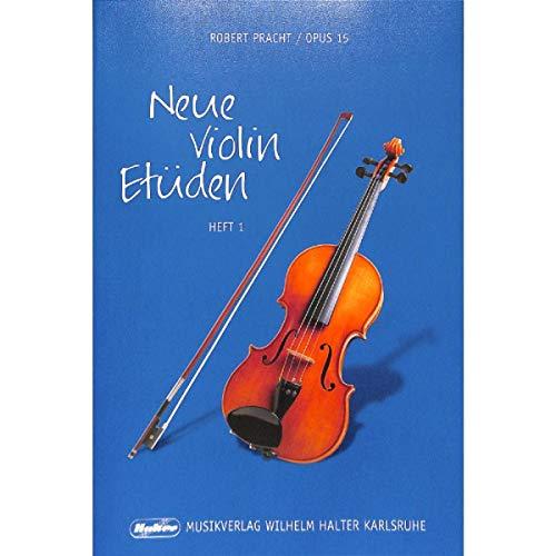 Robert Pracht: nieuwe viool etüden op.15 band 1-47 lichte etwaren in de 1e Positie (noten)