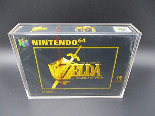 1 x Ninodo UV Absorbtive Acryl Game Case Für Super Nintendo und Nintendo 64 OVP Original Verpackung Schutzhülle Passend Für Spiele Wie Zelda Mario 64 Banjo Kazooie Mario Kart N64 (SNES/N64)