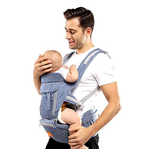 NMDD Portabebés, Taburete de Cintura con Correa para niños pequeños 3 en 1 Sling para bebés - Portabebés ergonómico Portabebés para bebés Taburete de Cintura para niños Mochila con Revestimiento