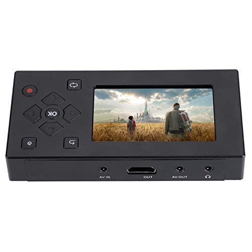 Práctica grabadora de AV con Pantalla TFT de 3', grabadora de Audio y Video compacta y Liviana con visualización de Video en Tiempo Real USB 2.0, Captura de Video para VCR, DVD, teléfono móvil
