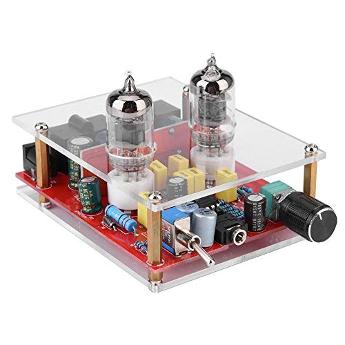 V BESTLIFE DIY Preamplifier Kit,12V 6J1-2 Tube Board & Acrylic Board Amplifier Headphone Pre-Amp Amplifier Audio Board DIY Kit
