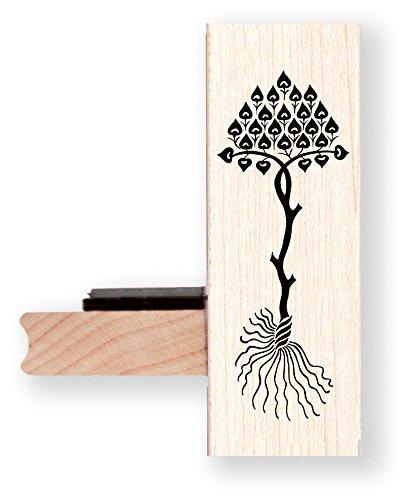 Baum mit Wurzeln, Gummi Stempel–br020m