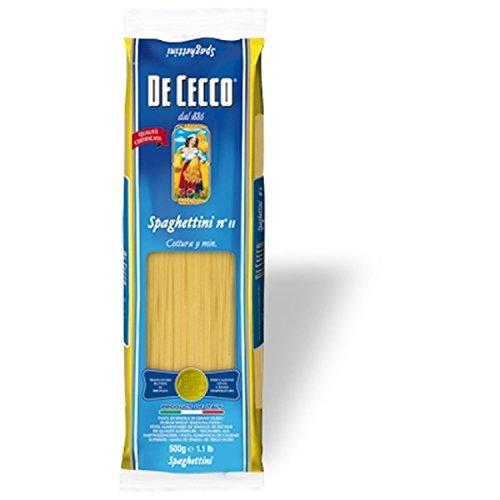 Nudeln Pasta Spaghettini n° 11 5 x 500 gr. - De Cecco