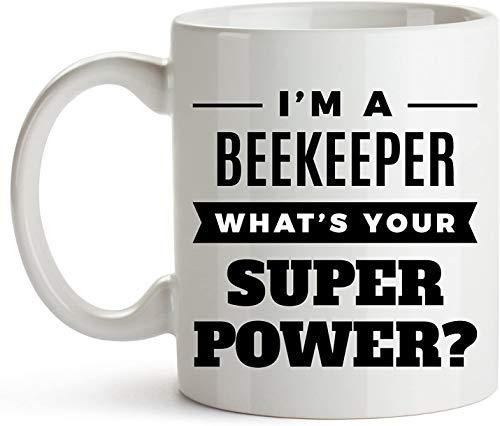 11 oz koffiemok, Ik ben een imker Wat is Super Power?, Honing Boeren, Apiaristen, Apiculturisten, Grappige imker koffiemok, Geweldig geschenk voor een verjaardag of Kerstmis, Keramische imker mok