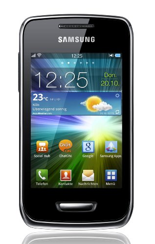 Samsung Wave Y S5380 Smartphone (8,1 cm (3,2 Zoll) Display, Touchscreen, 2 Megapixel Kamera, UMTS) sand-silver