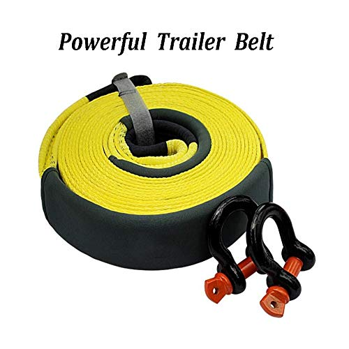 Amazing Deal Gjjtcd Car Tow Rope Widened Thick wear-Resistant Trailer with Vehicle Rescue Traction B...