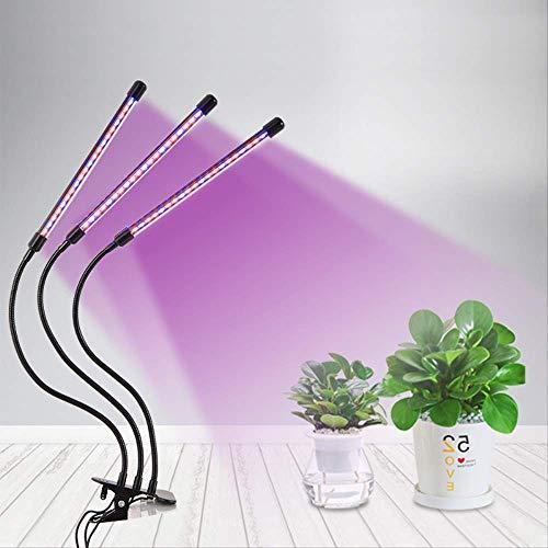 Horsepower Lámpara de Crecimiento de Tres Tubos con Clip de LED Tira de Cuello de Cisne Jardinería Suplemento de plantación suculenta Lámpara de Crecimiento Ligero