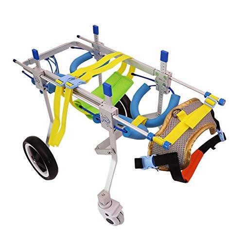 Hond rolstoel, achterbeen assistente training ledematen voor huisdieren uitgeschakelde rolstoel scooter teddy 4 wielen hondenwagen verstelbare houder voor kinderwagens Small