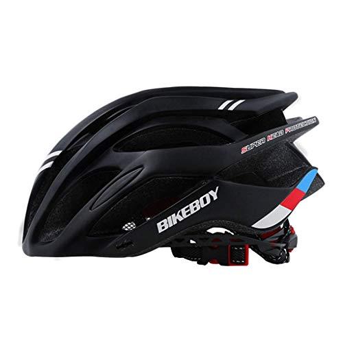SEESEE.U Cycle Helmet Mountain Bike Bicicleta Skateboard Scooter Casco Casco de Bicicleta con Visera LED Luz Trasera, Casco de Seguridad para Ciclismo Deportivo al Aire Libre para Hombres y Mujeres a