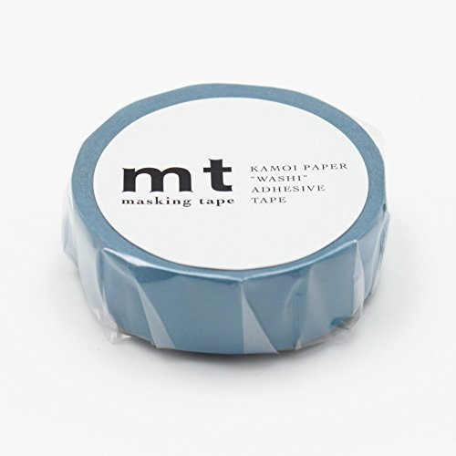 "MT Solids Washi Paper Masking Tape, 3/5"" x 11 yd, Asahanada, Shallow Indigo (MT01P198) Photo #1"
