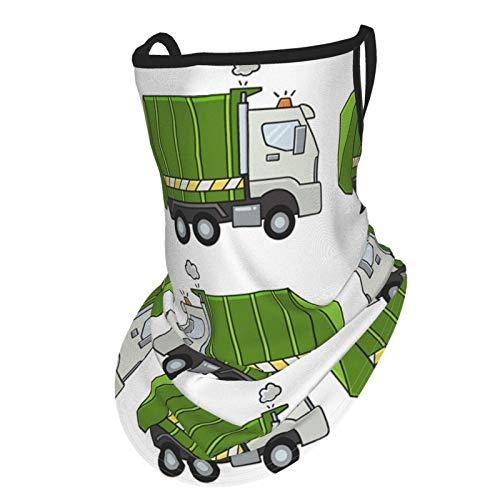asdew987 Pañuelo de la cara del camión de basura con bucles de la oreja de seda para el cuello, polaina para la cabeza pasamontañas para hombres y mujeres
