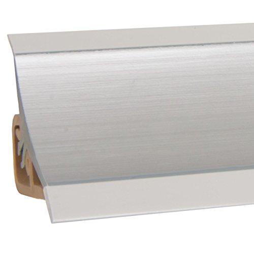 HOLZBRINK Copete para encimera de Cocina, Aluminio, listón de Acabado PVC, listón de encimera 23x23 mm 150 cm