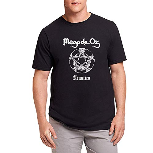 HAOKUII Hombre Black Camiseta T-Shirt Mago De Oz Logo Tops Short Sleeve Camiseta T-Shirt