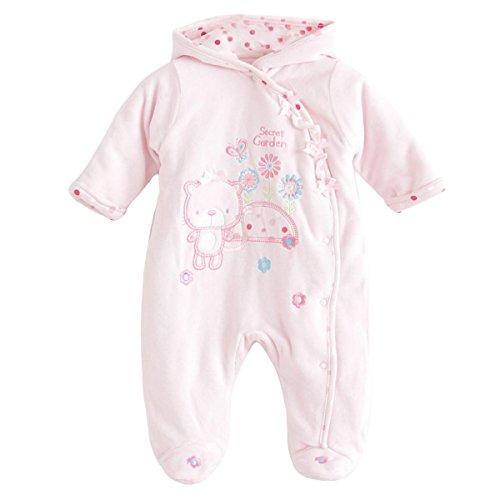 Baby Girl Long Sleeve Footie Winter Hoodie Romper Sleep 'N Play