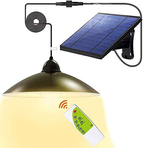 Solarlampen für Außen, Solar Hängelampe mit 2 Modi,3 helle Farben,Fernbedienung,5m Kabel,180 ° Einstellbares Solarpanel,IP65 Wasserdichte, für Garten,Camping,Haus Dekoration