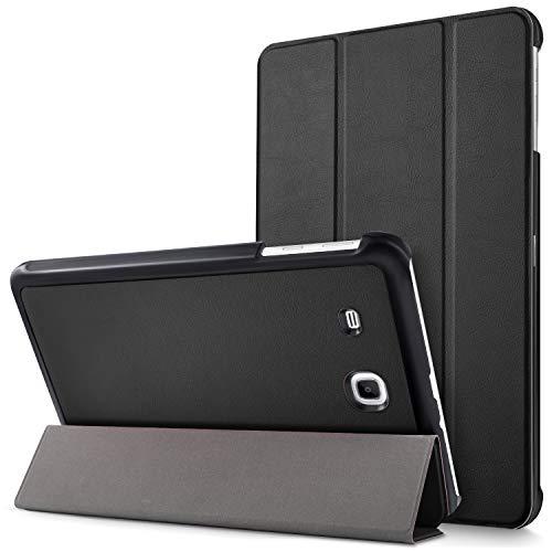 """Mama Mouth Samsung Galaxy Tab E 9.6 Ultra Custodia, Ultra Sottile di Peso Leggero con Supporto in Piedi Caso Case per 9.6"""" Samsung Galaxy Tab E 9.6 T560 T561 Android Tablet,Nero"""