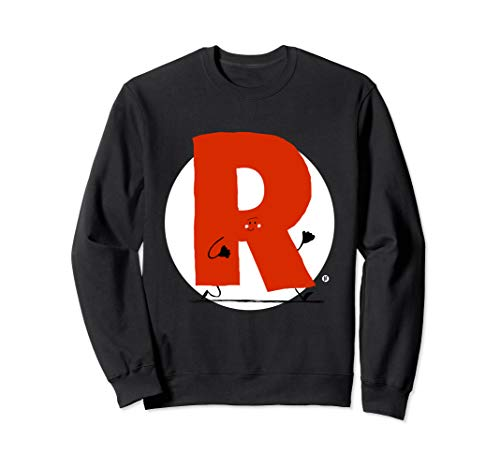 Niedlicher Buchstabe R Monogramm (Anfangsbuchstabe) Sweatshirt