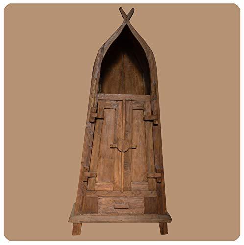 Massivholz Schrank Shabby chic Sumatra Vintage Teak Altholz Möbel Handarbeit Antik 1