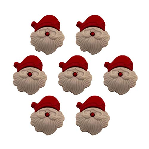 Buttons Galore Craft & Sewing Buttons - Santa Claus - 3 Packs (24 Buttons)