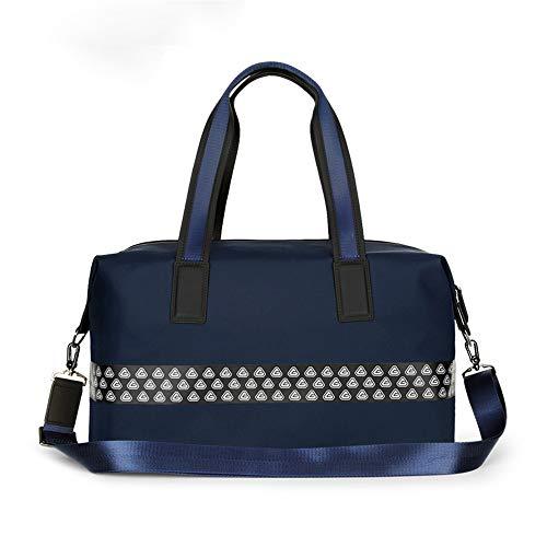 CaoQuanBaiHuoDian Dauerhafter Golfkleidungstasche Große Reisegepäck-Duffel-Tasche Wochenendrucksack Nylon wasserdichte Einkaufstasche Golf Breiter Einsatz (Farbe : Navy, Size : 46x25x17cm)