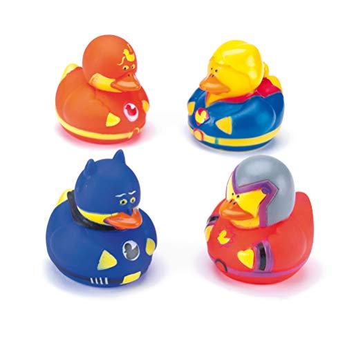 Hero Lot de 6 Canards en Caoutchouc pour Enfants avec Sac de Fête et Jouet Amusant pour Le Bain