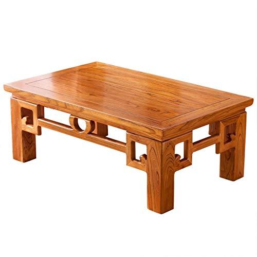 HGXC Mesas de café Mesa de té Mesa de Ventana salediza Dormitorio Zen Mesa Baja de Estilo japonés Tatami de Olmo Antiguo