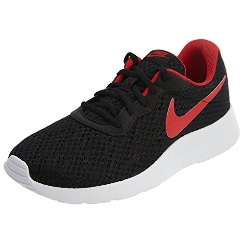 Nike Men's Tanjun Black / University Red-white Running Shoe 10 Men US