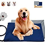 popsky Pet Heated Pads for Dogs & Cats Waterproof Pet Warming Mat with...