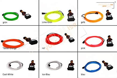 Armaturenbrett EL Ambiente Lichtleiste Set Ambientebeleuchtung für 3er E90 E91 E92 E93 (Blau)