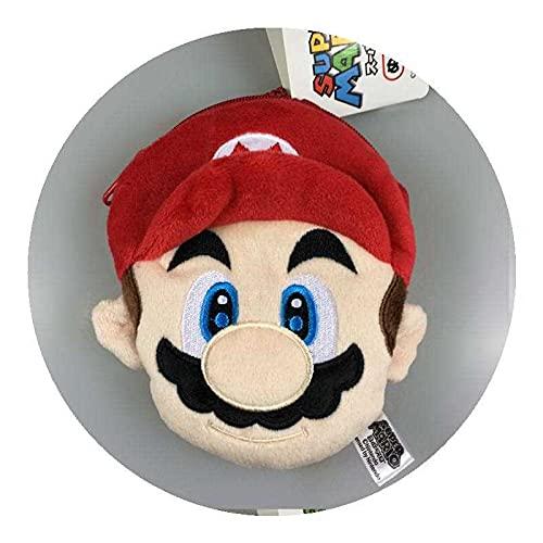 Super Mario Monedero de dibujos animados Anime Super Mario Super Mario Juego de peluche monedero tarjeta colgante