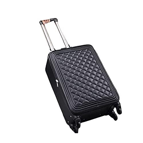 QIXIAOCYB Maleta de cuero para mujer de 20 pulgadas y 24 pulgadas para equipaje de mano con ruedas de 40 cm (color: 4 tamaño de equipaje:16) (color: 2, tamaño: 24)