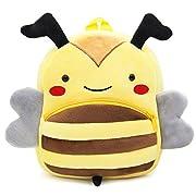 Cute Toddler Backpack Toddler Bag Plush Animal Cartoon Mini Travel Bag for Baby Girl Boy 1-6 Years (Bee)