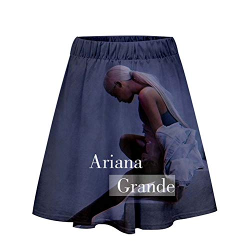 LJXJ Ariana Grande 3D lässiger Damen Kurzrock Freizeitrock,2,L