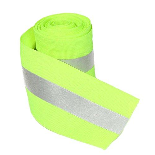 Reflexband Safty Streifen Auf Synth Kalk Orange Nähen Stoff 3 Meter - Grün