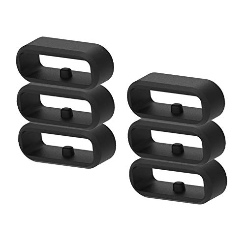 6-Pack Fastener Rings Compatible with Garmin Vivoactive 3/Forerunner 645 245/Venu/Vivomove/Fenix 6S/Fenix 5S Band Keeper, Silicone Replacement Watch Band Loop/Holder/Retainer