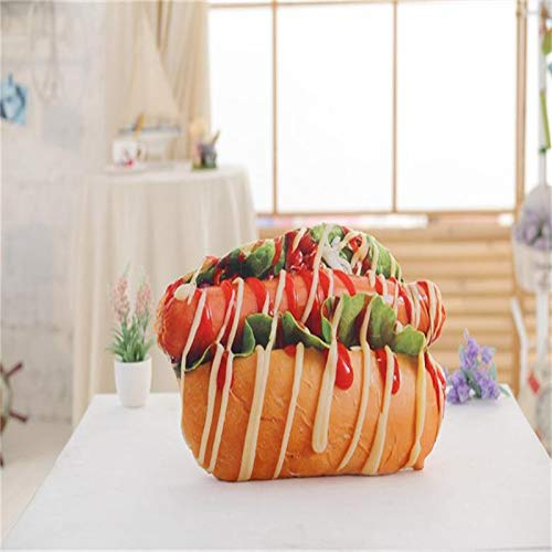 Cute Bread Pillow Plush Toys Kids Toys Baby Dolls Body Pillow Food Pillow Food Toys Birthday Gifts for Kids and Women (F)