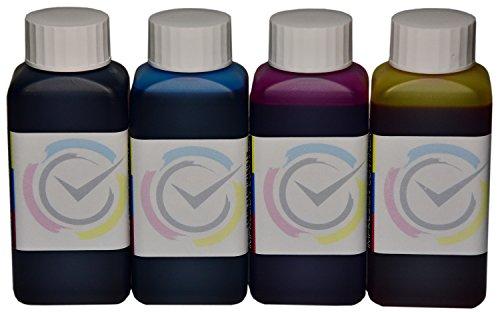4 Botellas de Tinta de 100ml Compatible Cartuchos HP 920XL para impresoras HP OfficeJet 6500 E710 / 6000/7000 / 7500A Wide Format / E710a / E710n / 6500A / 6500A Plus / 6500 E709