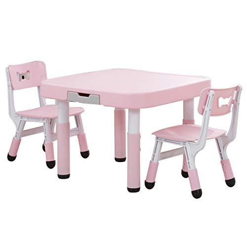 Enfants étude Table Table d'apprentissage de la Chaise Chambre d'enfants Table à Dessin Jeu Chaise Peut Supporter 200 kg de Poids (Color : Pink)