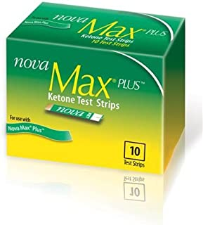 nova max plus ketone test strips