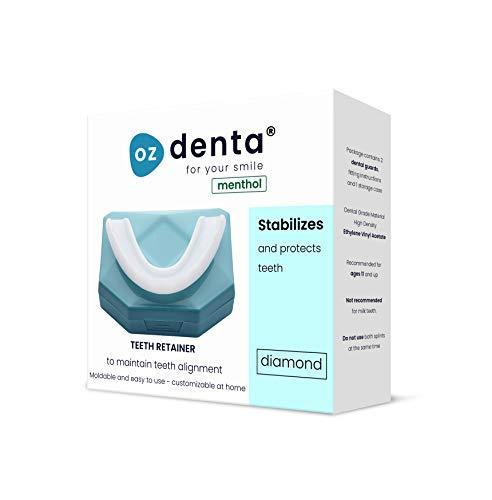 2 x Menthol Férula dental de descarga nocturna, anti bruxismo (rechinar los dientes), trastornos del ATM