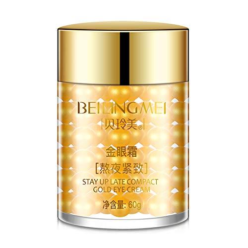 ARTIFUN Crème pour les Yeux dorés Supprimer les Poches pour les Yeux et les Cernes Éclaircir la Couleur de la peau Sérum Hydratant pour les Yeux 60g