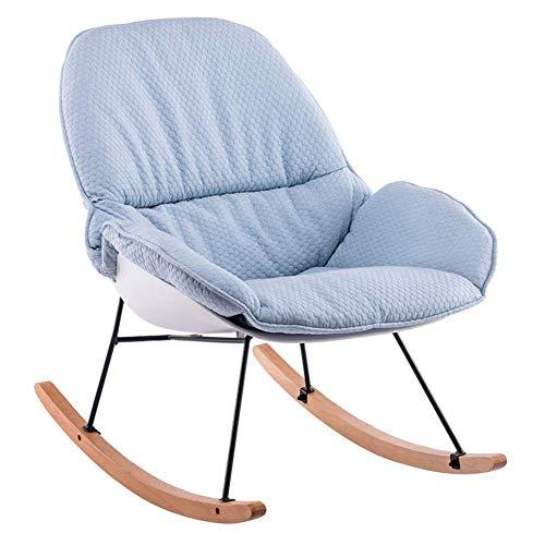 Lounge Chair Mecedora Silla con Respaldo Alto clásico Salón Sillón tapizado con el Amortiguador Honda Presidente Porches balcón del Patio Trasero del Eje de balancín Asientos 6 Color