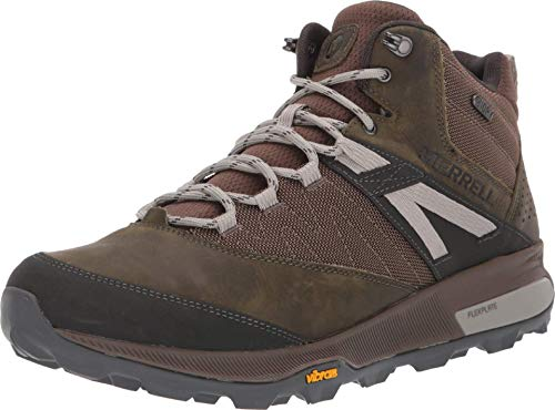 Merrell Men's Zion Mid Waterproof Hiking Boot, Dark Olive, 8 M US
