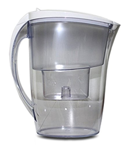 Carafe filtrante blanche 2.4 litres et 1 filtre generique brita maxtra offert